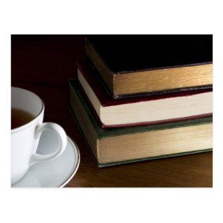 Carte postale d'amoureux des livres