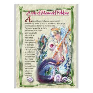 Carte postale d'anecdotes amusantes de sirène