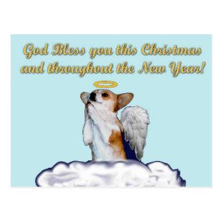 Carte postale d'ange de Dott de prière de