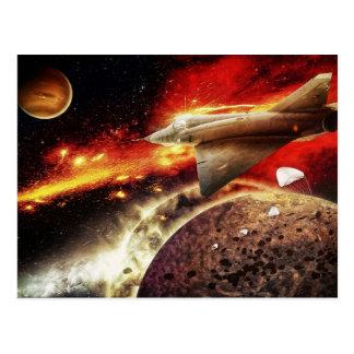 Carte Postale Danger dans l'espace - une galaxie Scape