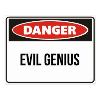 Carte Postale Danger - génie mauvais