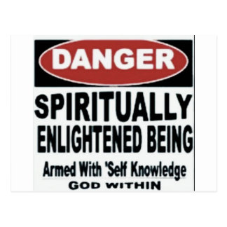 Carte Postale Danger je suis spirituel