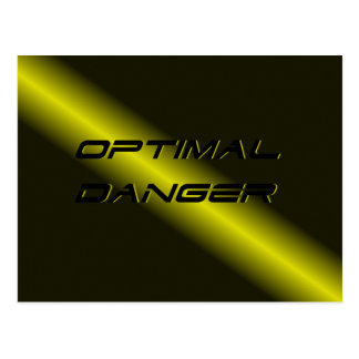 CARTE POSTALE DANGER OPTIMAL