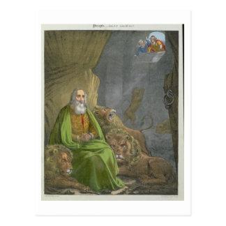 Carte Postale Daniel dans le repaire des lions, d'une bible