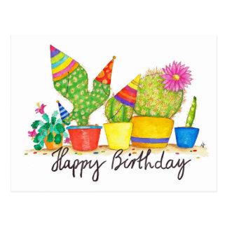 Carte postale d'anniversaire de cactus par Nicole