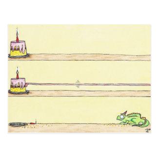 Carte postale d'ANNIVERSAIRE de CAMÉLÉON par