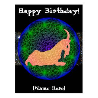 Carte postale d'anniversaire de Capricorne