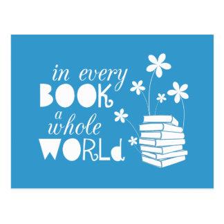 Carte Postale Dans chaque livre un monde entier