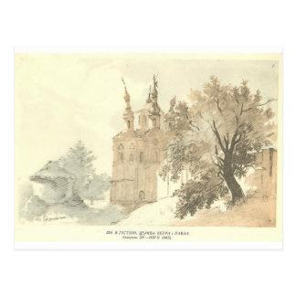 Carte Postale Dans Gustynia. Une église de Sts. Peter et Paul