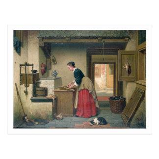 Carte Postale Dans l'office, 1868 (huile sur le panneau)