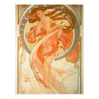 "Carte Postale ""Danse"" - art Nouveau - Alphonse Mucha"