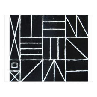 Carte Postale Danse carrée (ligne minimalisme)