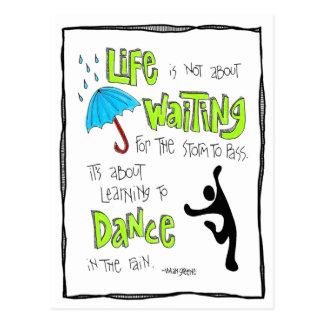 Carte postale : Danse dans la citation de pluie