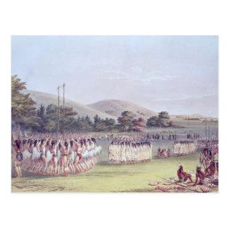 Carte Postale Danse de Boule-Jeu de Choctaw, 1834-35