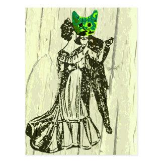 Carte Postale Danse de chat