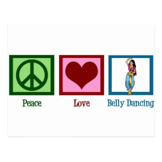 Carte Postale Danse du ventre d'amour de paix