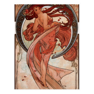 Carte Postale Danse par Alphonse Mucha