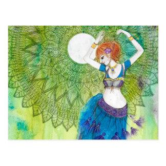 Carte Postale Danseuse du ventre dans le bleu