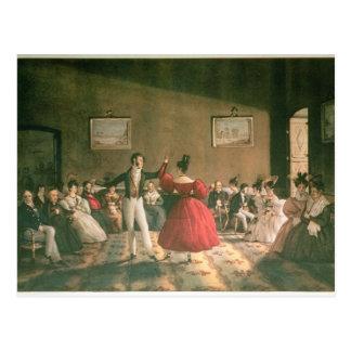 Carte Postale Dansez dans un salon à Buenos Aires, c.1831 (la