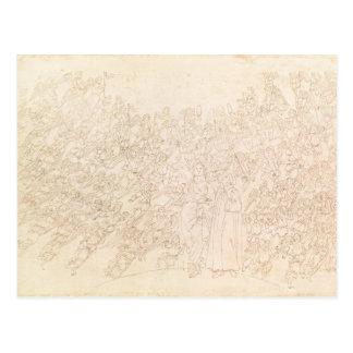 Carte Postale Dante et Béatrice, du ` de Dante divin