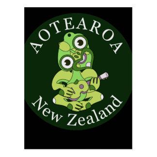 Carte postale d'Aotearoa d'ukulélé de Hei Tiki