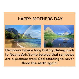 Carte postale d'arc-en-ciel de jour de mères