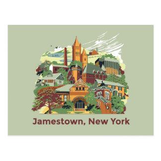 Carte postale d'architecture de Jamestown