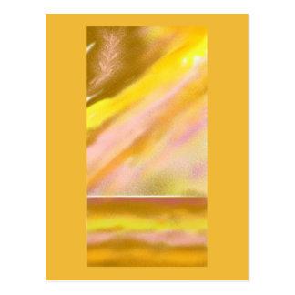 Carte postale d'art abstrait de lac Sun pleine) (