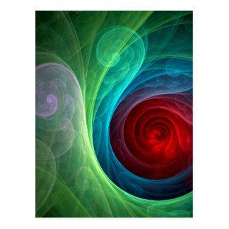 Carte postale d'art abstrait de Red Storm