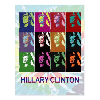 Carte postale d'art de bruit de Hillary Clinton