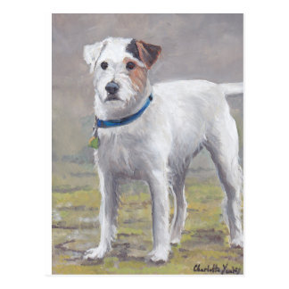 Carte postale d'art de chien de Jack Russell