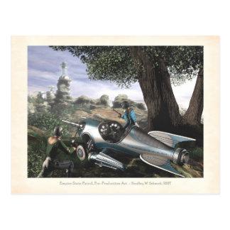 Carte postale d'art de concept de patrouille