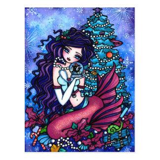 Carte postale d'art d'imaginaire de sirène d'orque