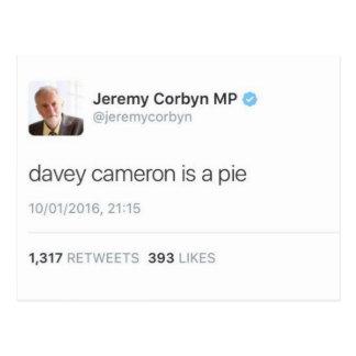 Carte Postale Davey Cameron est un tarte