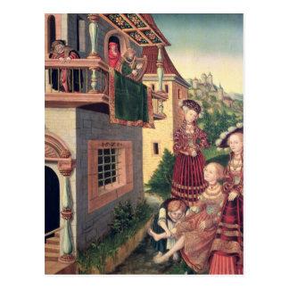 Carte Postale David et Bathsheba, 1528
