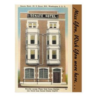 Carte Postale DC de Washington, hôtel de sénat