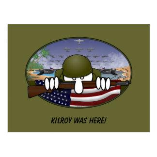 Carte postale de 2ÈME GUERRE MONDIALE Kilroy