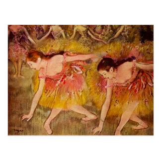 Carte postale de ballerine d'Edgar Degas