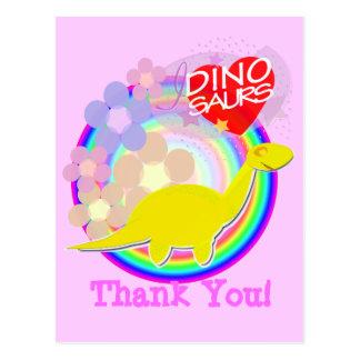 Carte postale de bande dessinée de Dino de fleur