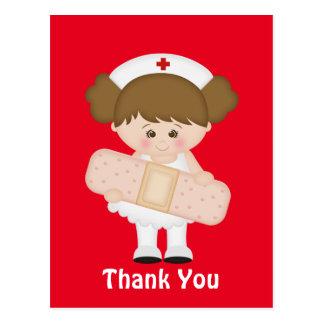 Carte postale de bande dessinée d'infirmière de