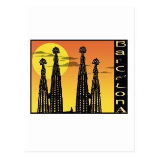 Carte postale de Barcelone