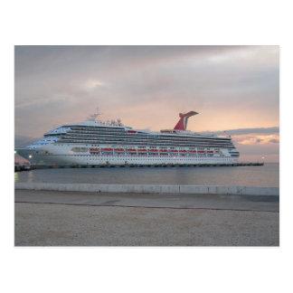 Carte postale de bateau de croisière
