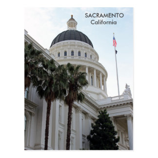Carte postale de bâtiment de capitol de Sacramento