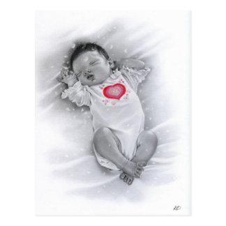 Carte postale de bébé de Noël