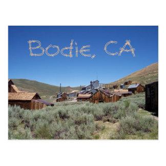 Carte postale de Bodie la Californie