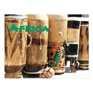 Carte postale de bongos de l'Afrique