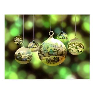 Carte postale de boules de Noël