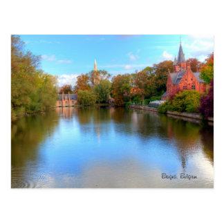 carte postale de Bruges, Belgique
