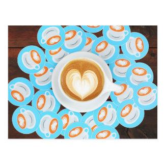 Carte postale de café-restaurant