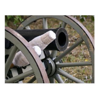 Carte postale de canon d'ère de guerre civile